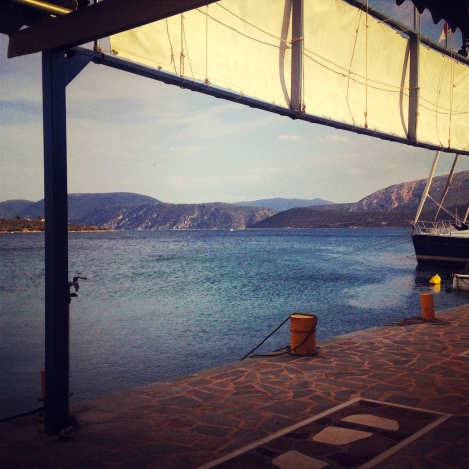 The view from the Taverna
