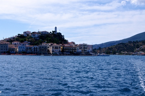 sailing out of Poros