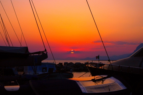 Patras sunset