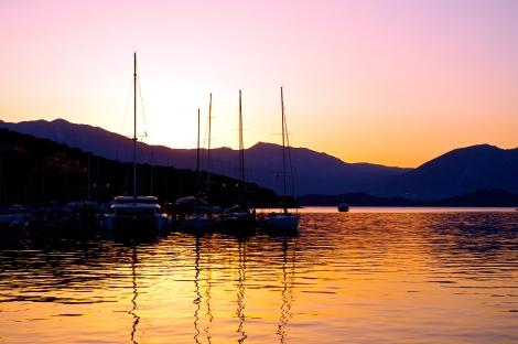 Vathi sunset