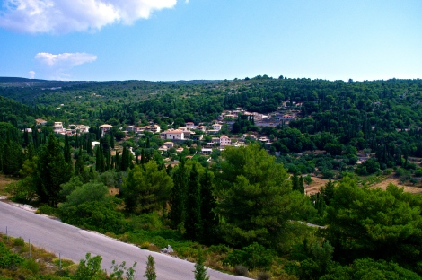 Looking over Louha from the windmill restaurant