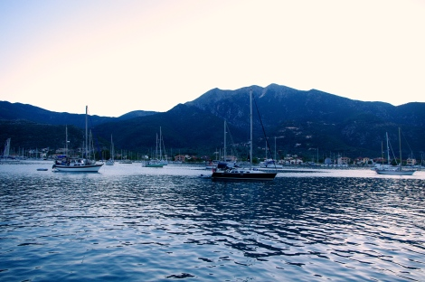 Many boats being tranquil in Tranquil Bay