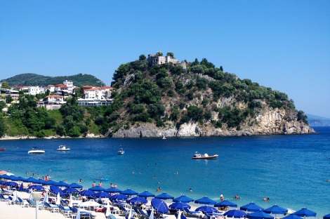 The bay next to Parga