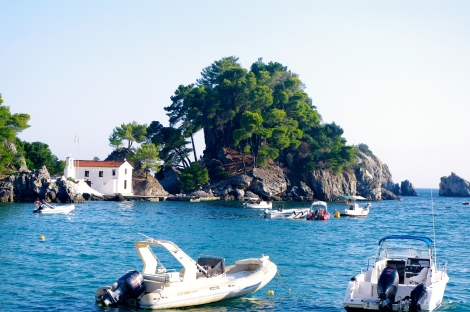 The island just off Parga town