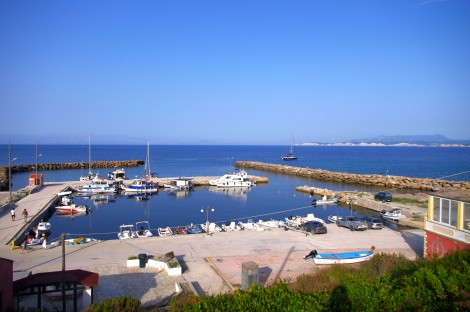 Overlooking the harbour - mostly a fishing harbour