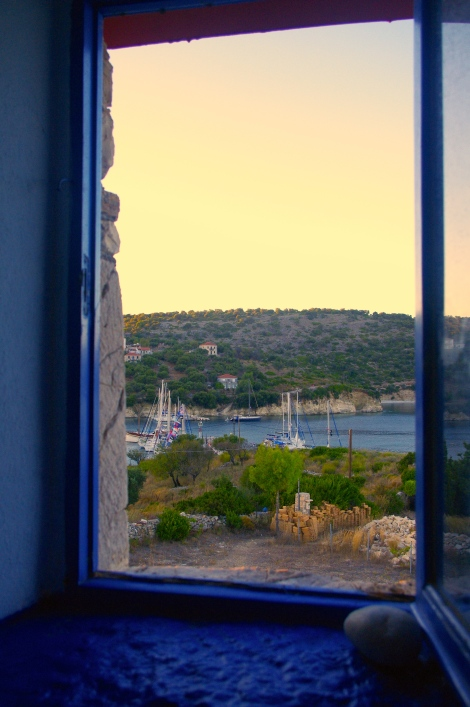 Looking towards the harbour from the windmill window